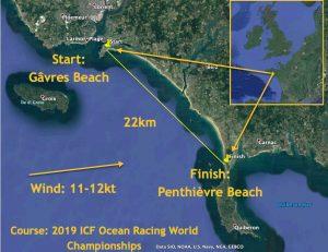 ICF Oceanracing surfski